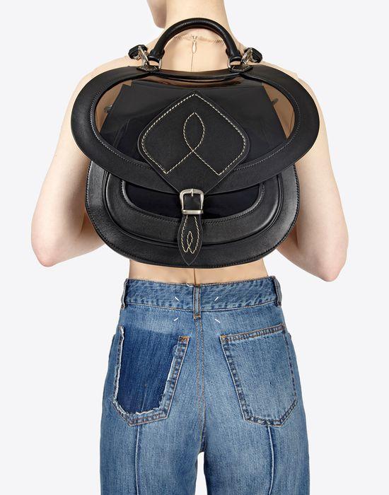 MAISON MARGIELA Bag-slide' in transparent PVC and calfskin Shoulder bag Woman b
