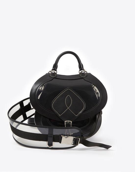 MAISON MARGIELA Bag-slide' in transparent PVC and calfskin Shoulder bag Woman d