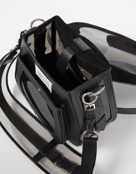 MAISON MARGIELA Bag-slide' in transparent PVC and calfskin Shoulder bag D e
