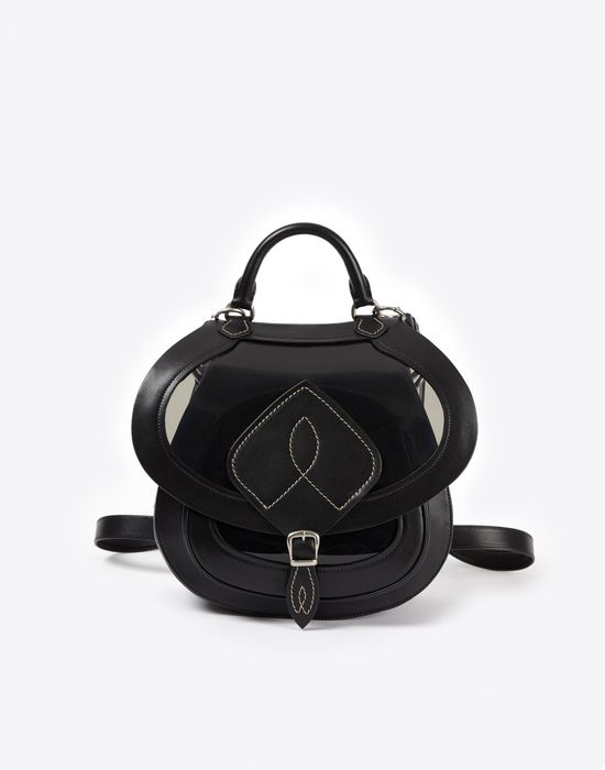 MAISON MARGIELA Bag-slide' in transparent PVC and calfskin Shoulder bag Woman f