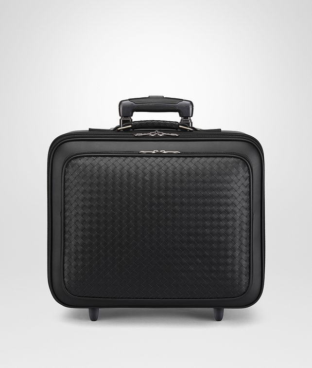 BOTTEGA VENETA TROLLEY IN NERO INTRECCIATO VN Trolley and Carry-on bag E fp
