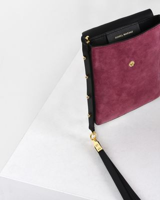 ISABEL MARANT BAG Woman Teinsy leather and suede calfskin cross body bag e