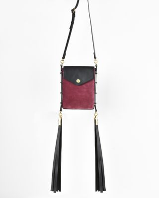 Teinsy leather and suede calfskin cross body bag
