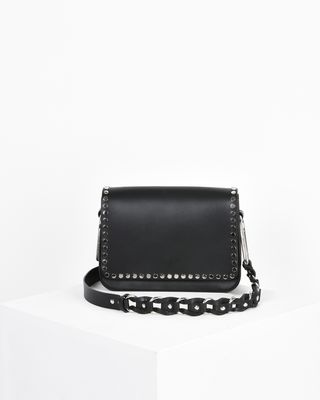 Calibar calf leather cross body bag