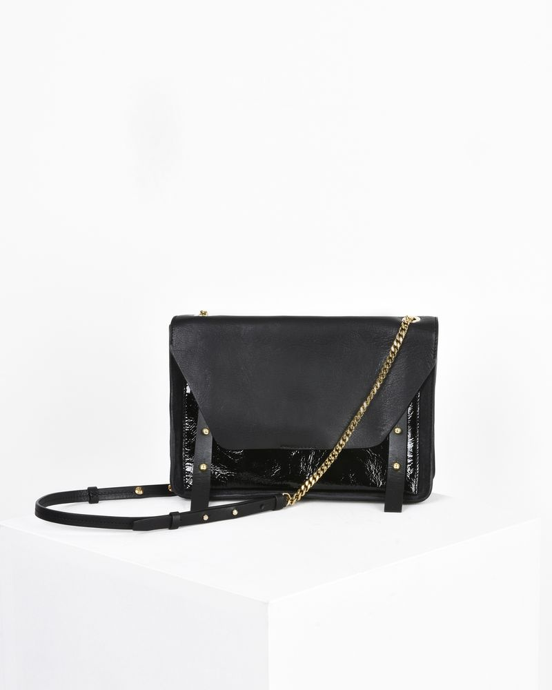Mallia suede calfskin and calf leather bag with chain shoulder strap ISABEL MARANT