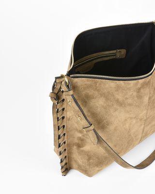 ISABEL MARANT BAG D Osun suede calfskin zipped messenger bag e