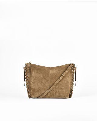 Osun suede calfskin zipped messenger bag