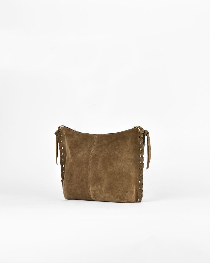 Osun Suede Calfskin Zipped Messenger Bag Isabel Marant