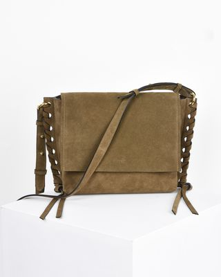Asli Suede calfskin shoulder bag