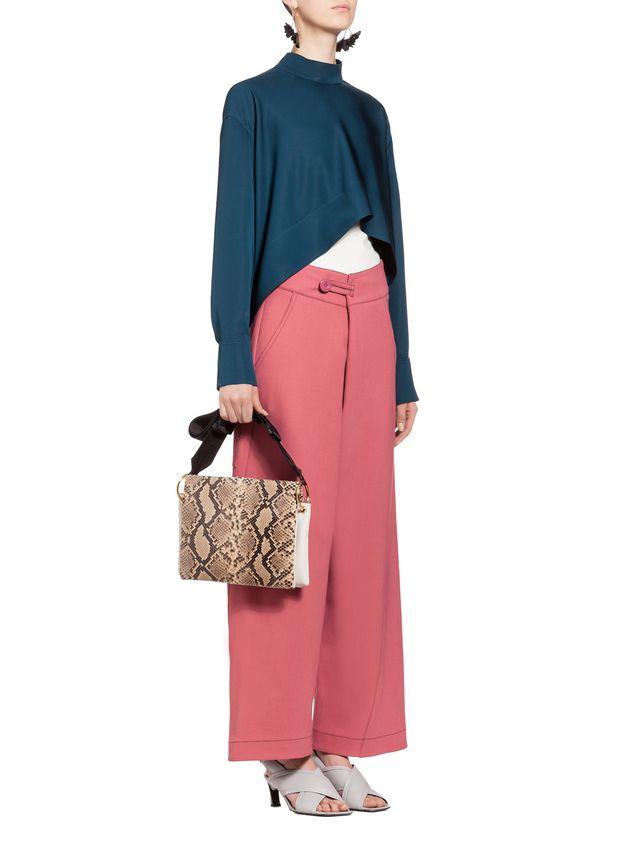 Marni BEAT bag in shiny python Woman - 5