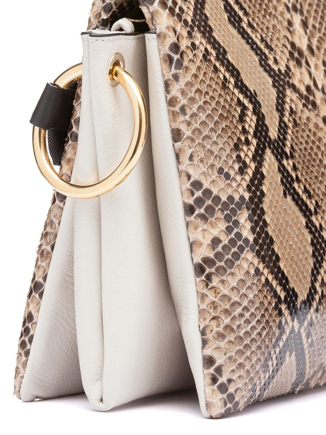 Marni BEAT bag in shiny python Woman - 4