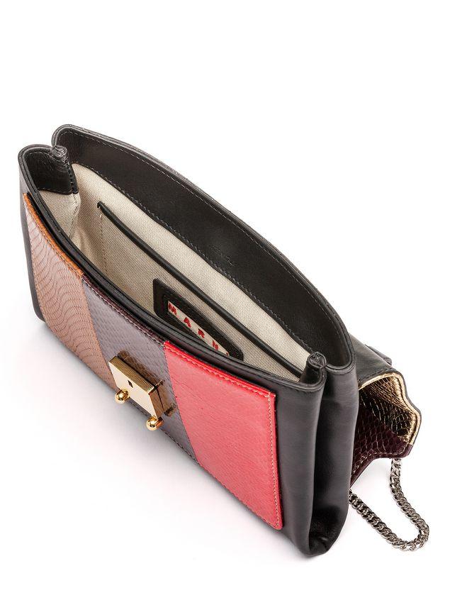Marni TRUNK clutch in shiny elaphe Woman - 4