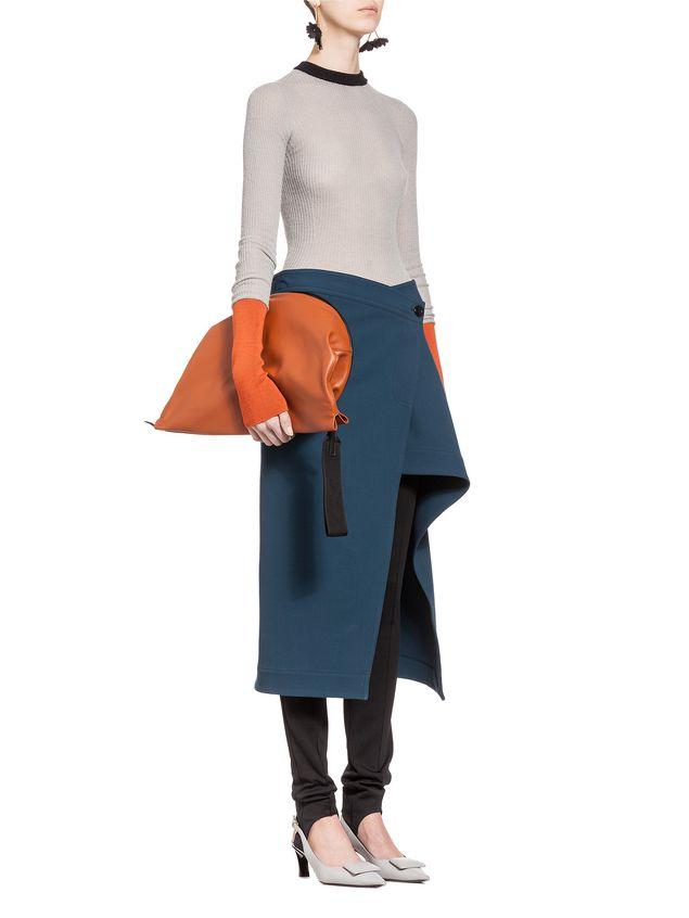 Marni TAMBOURINE clutch in nappa Woman - 5