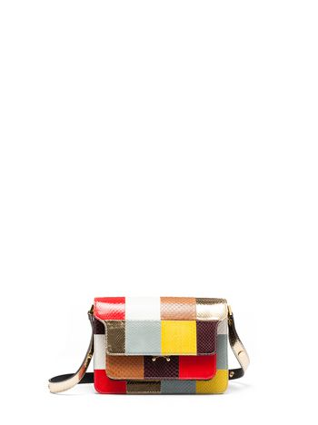 Marni TRUNK bag in shiny elaphe Woman