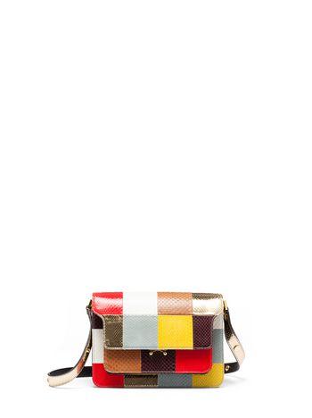 Marni TRUNK bag in shiny elaphe Woman