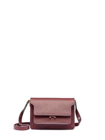 Marni TRUNK shoulder bag in Saffiano leather Woman