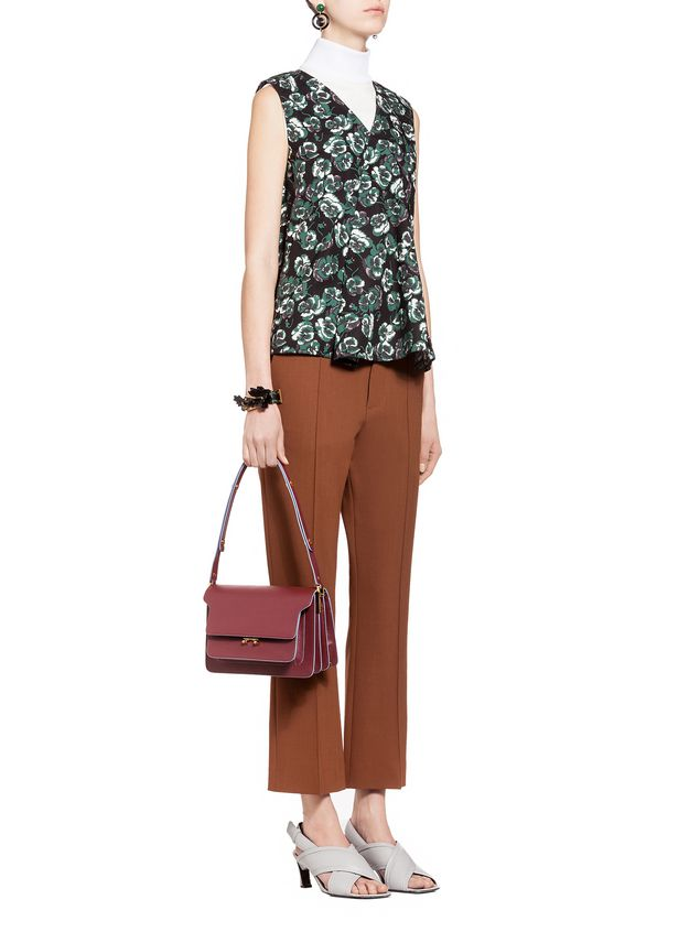 TRUNK Shoulder Bag In Saffiano Leather from the Marni Spring ... ef485e45cddbc