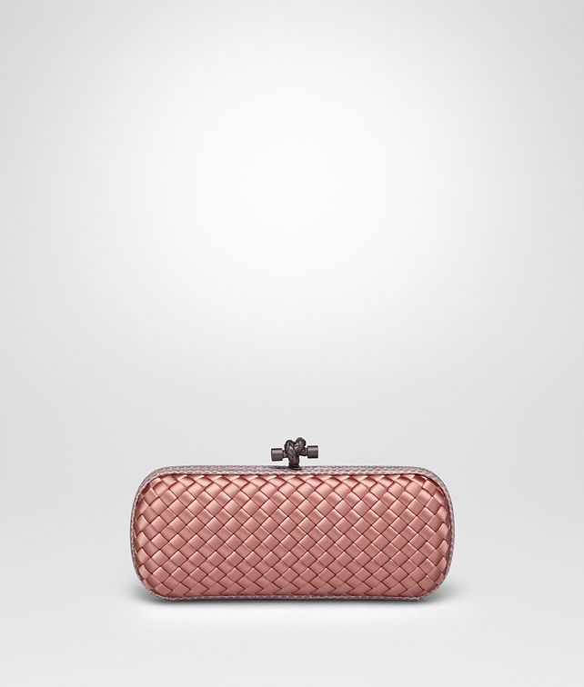 BOTTEGA VENETA STRETCH KNOT IN BOUDOIR INTRECCIO IMPERO, AYERS DETAILS Clutch D fp