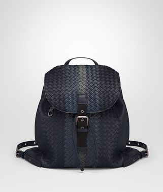 BACKPACK IN NEW DARK NAVY DENIM ARDOISE INTRECCIATO LAMB CLUB