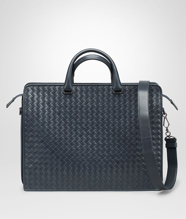 BOTTEGA VENETA BRIEFCASE IN DENIM INTRECCIATO VN Business bag Man fp
