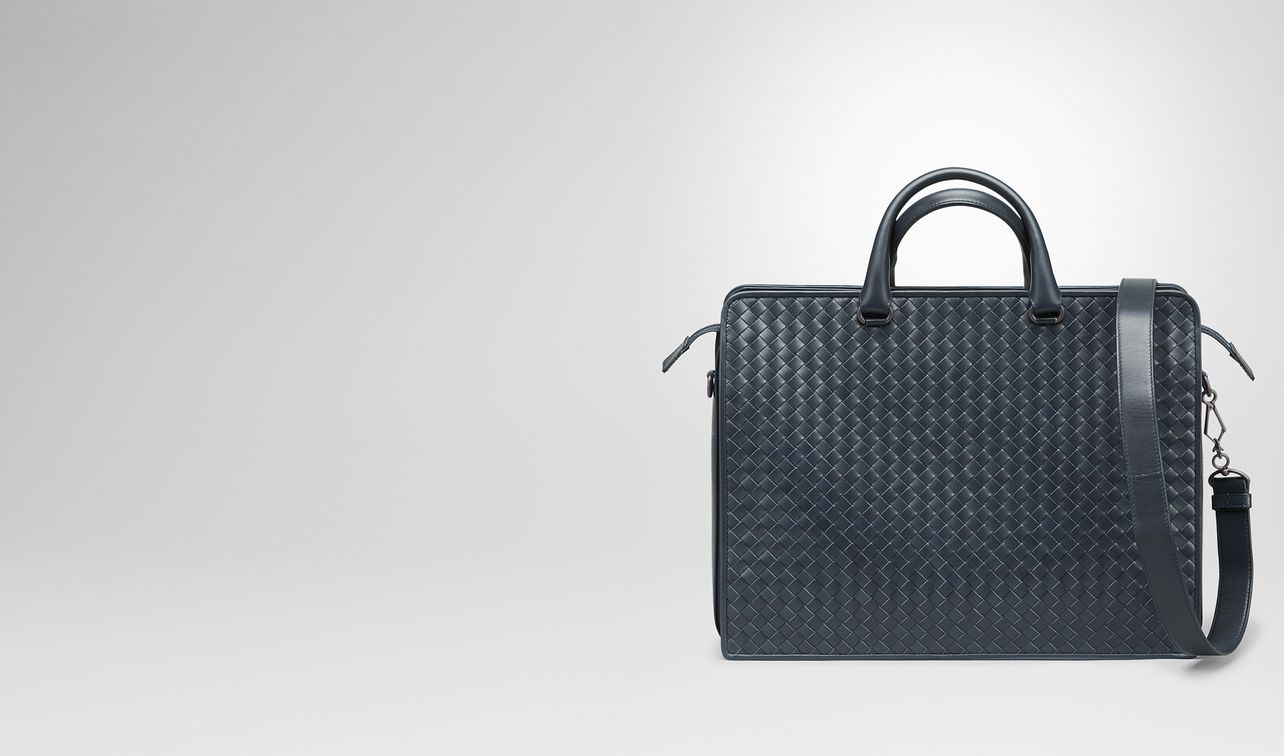 briefcase in denim intrecciato vn landing