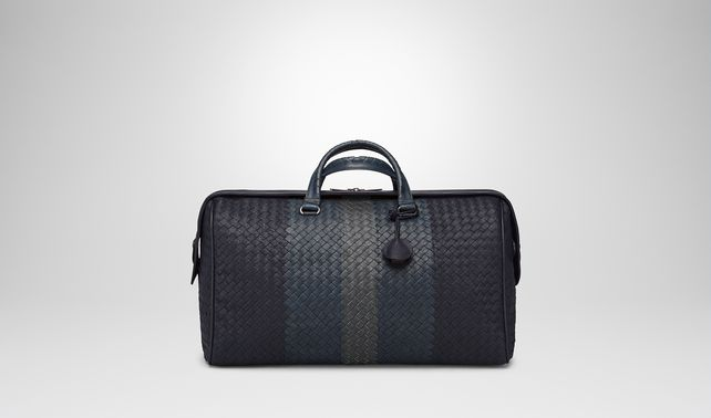 MEDIUM DUFFEL BAG IN DARK NAVY DENIM ARDOISE INTRECCIATO LAMB CLUB