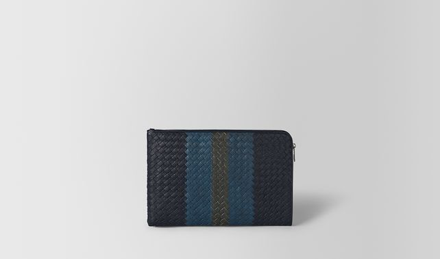 DOCUMENT CASE IN DARK NAVY DENIM ARDOISE INTRECCIATO LAMB CLUB
