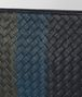BOTTEGA VENETA DARK NAVY INTRECCIATO LAMB CLUB LEATHER DOCUMENT CASE Small bag U ep
