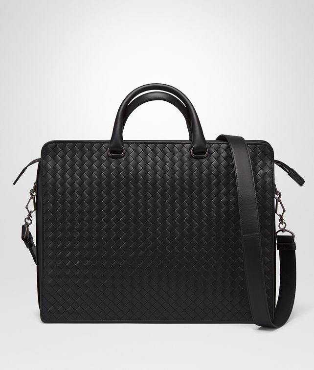 BOTTEGA VENETA BRIEFCASE IN NERO INTRECCIATO VN Business bag [*** pickupInStoreShippingNotGuaranteed_info ***] fp