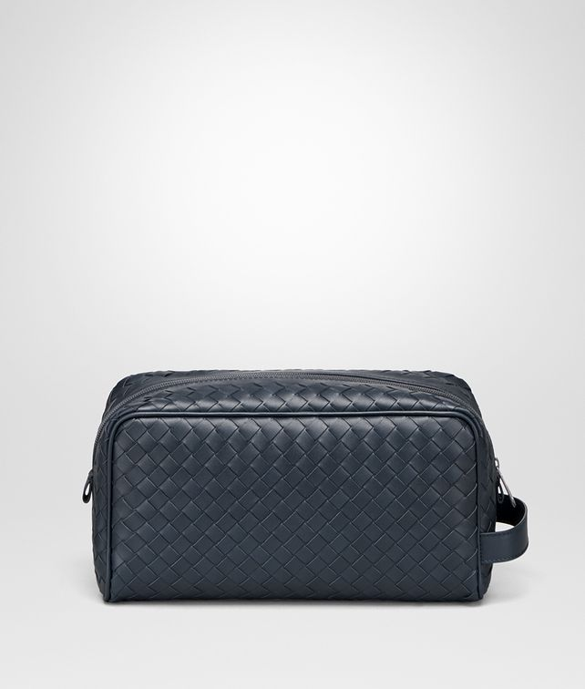 BOTTEGA VENETA TOILETRY CASE IN DENIM INTRECCIATO VN Other Leather Accessory Man fp