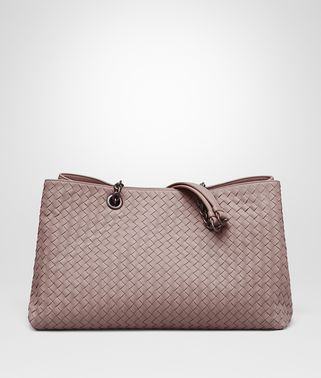 BORSA SHOPPING GRANDE IN INTRECCIATO NAPPA DESERT ROSE