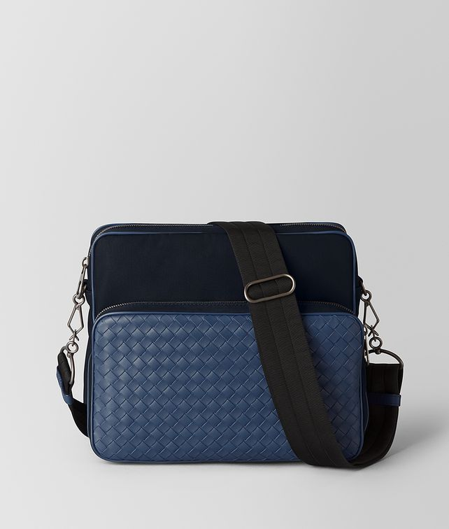 BOTTEGA VENETA TOURMALINE/PACIFIC HI-TECH CANVAS MESSENGER Messenger Bag [*** pickupInStoreShippingNotGuaranteed_info ***] fp