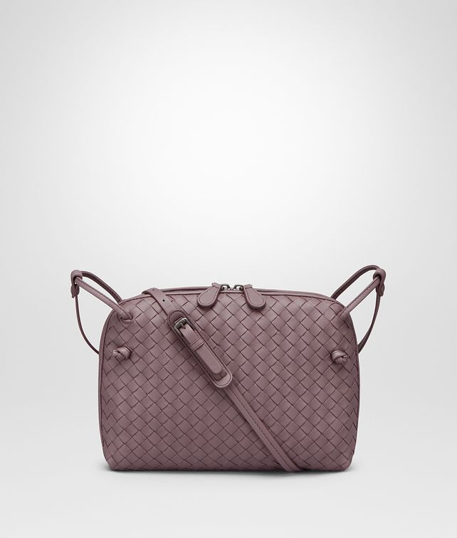 BOTTEGA VENETA SMALL MESSENGER BAG IN GLICINE INTRECCIATO NAPPA LEATHER Crossbody bag D fp