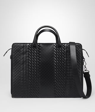 BRIEFCASE IN NERO INTRECCIO IMPERATORE CALF