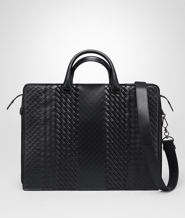 BOTTEGA VENETA BRIEFCASE IN NERO INTRECCIO IMPERATORE CALF Business bag U fp