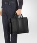 BOTTEGA VENETA BRIEFCASE IN NERO INTRECCIO IMPERATORE CALF Business bag Man ap