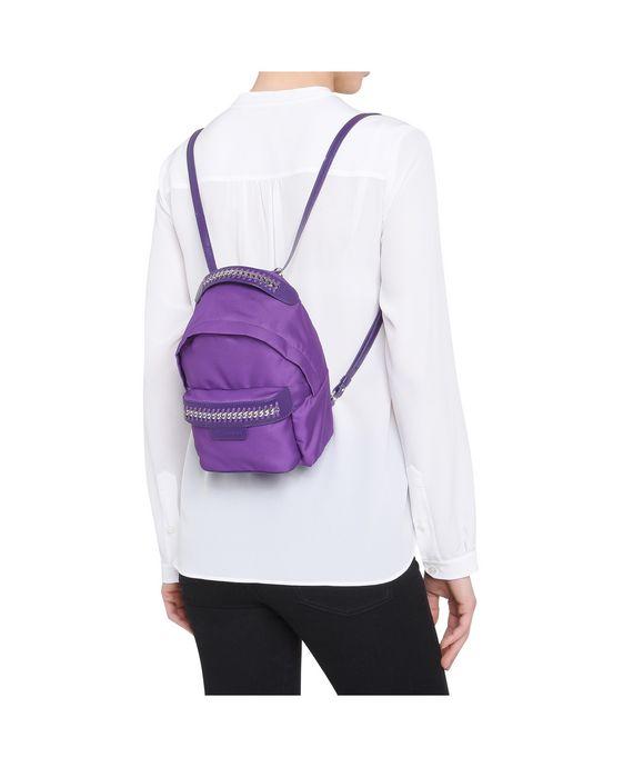STELLA McCARTNEY Purple Falabella GO Mini Backpack Mini Bags D p
