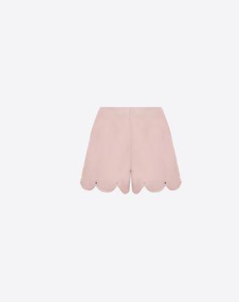 VALENTINO Crepe Couture scalloped shorts 45350122AK