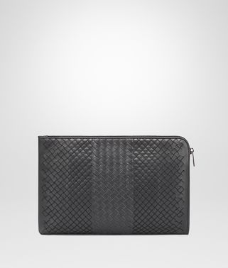ARDOISE INTRECCIATO AURELIO CALF DOCUMENT CASE