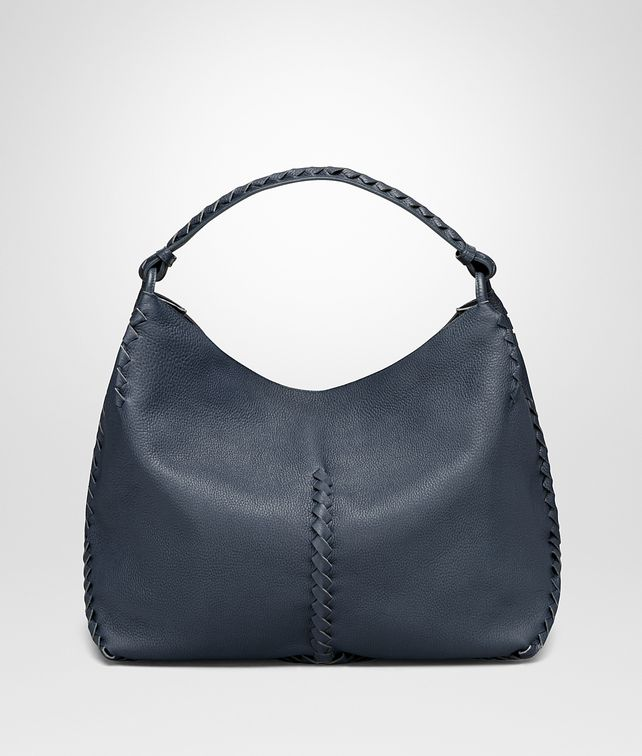 BOTTEGA VENETA MEDIUM SHOULDER BAG IN DENIM CERVO Shoulder or hobo bag D fp