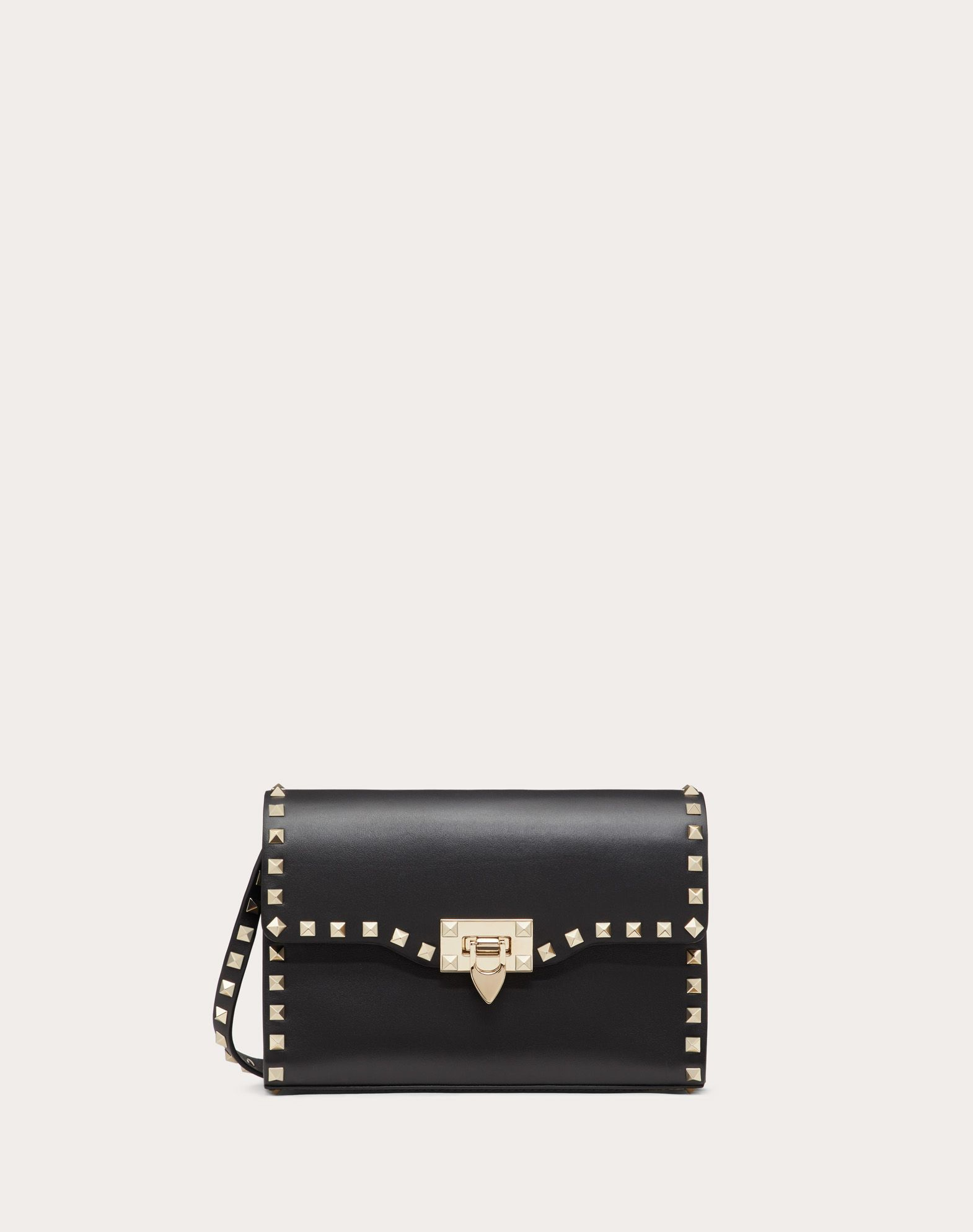 VALENTINO Logo Studs Framed closure Internal pocket Removable shoulder strap Bags Mini  45350481ni