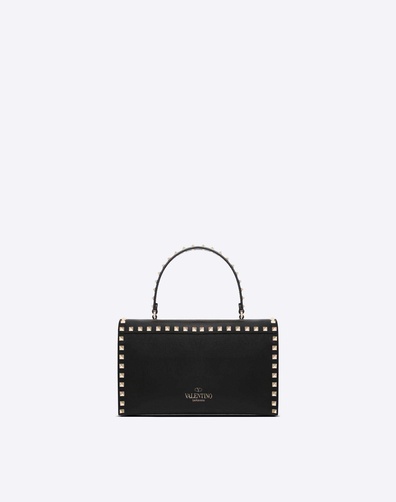 VALENTINO GARAVANI Small Rockstud Top Handle Bag HANDBAG D d
