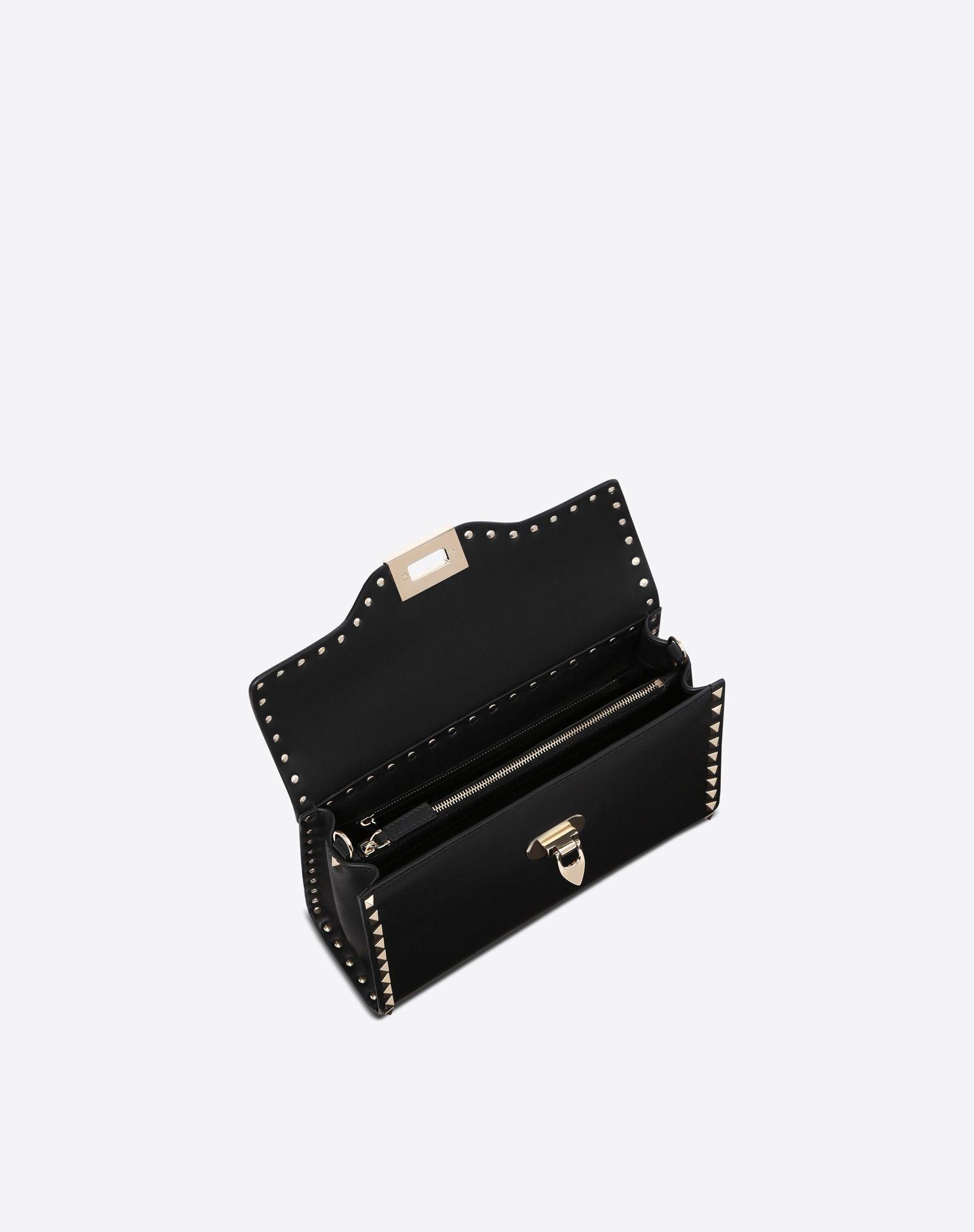 VALENTINO GARAVANI Small Rockstud Top Handle Bag HANDBAG D e