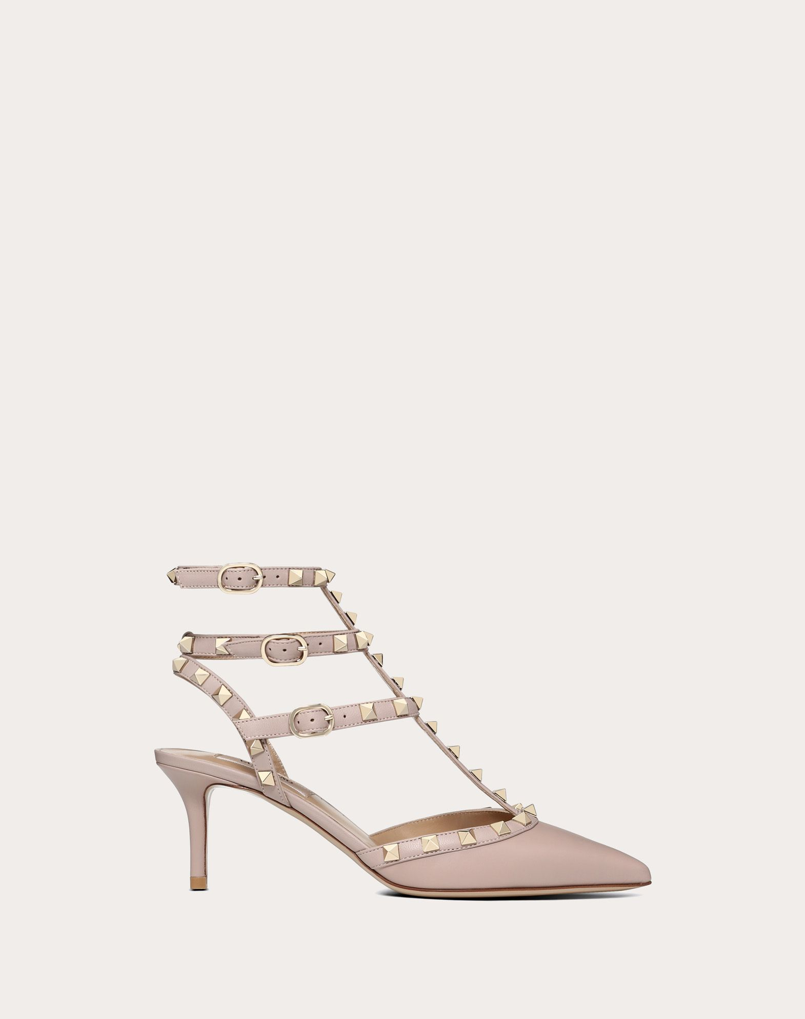 VALENTINO Studs Buckle Narrow toeline Leather sole  45350554gs