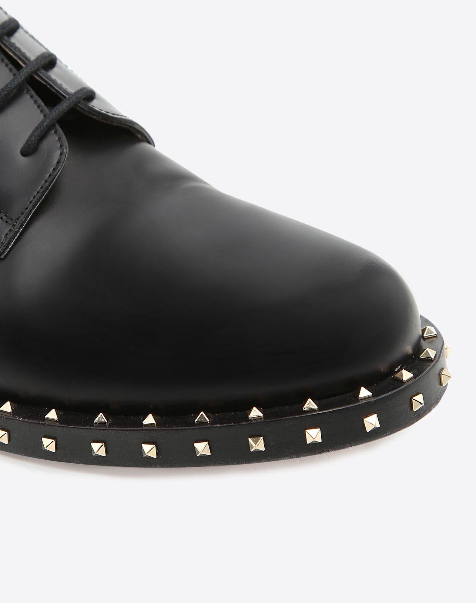 VALENTINO GARAVANI UOMO Zapatos derby Soul Rockstud ZAPATOS DE CORDONES U b