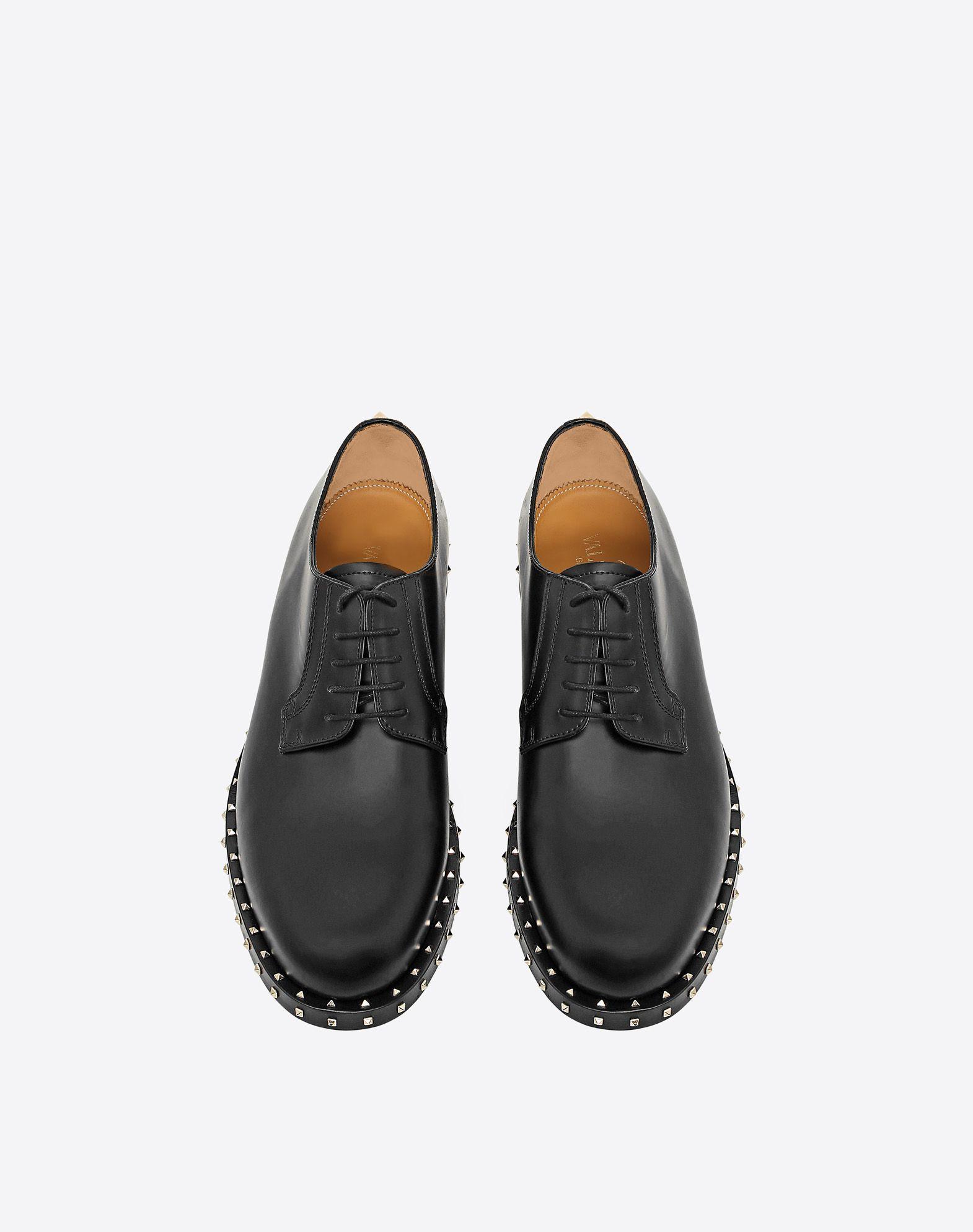 VALENTINO GARAVANI UOMO Zapatos derby Soul Rockstud ZAPATOS DE CORDONES U e