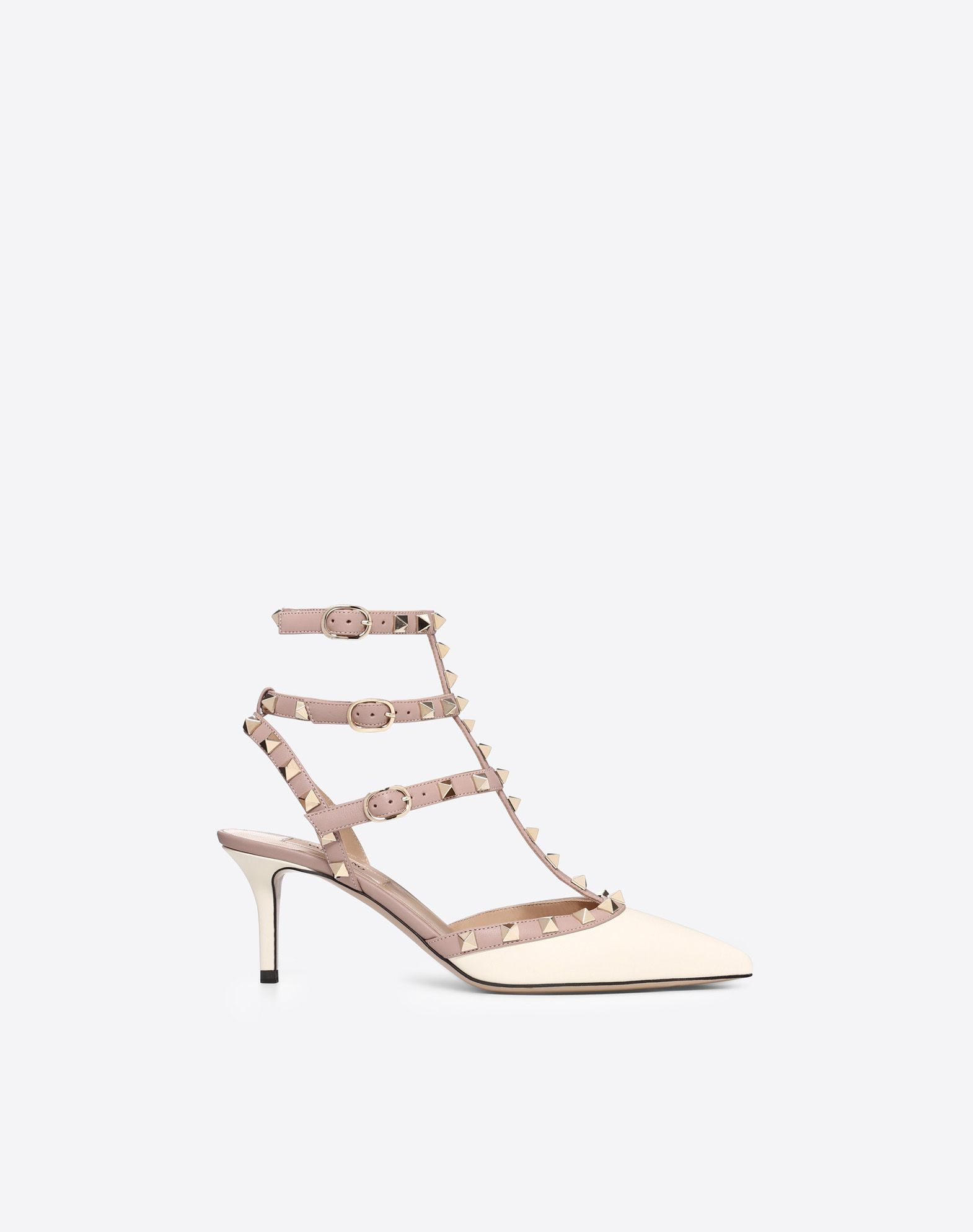 VALENTINO Studs Buckle Narrow toeline Leather sole  45350592ba