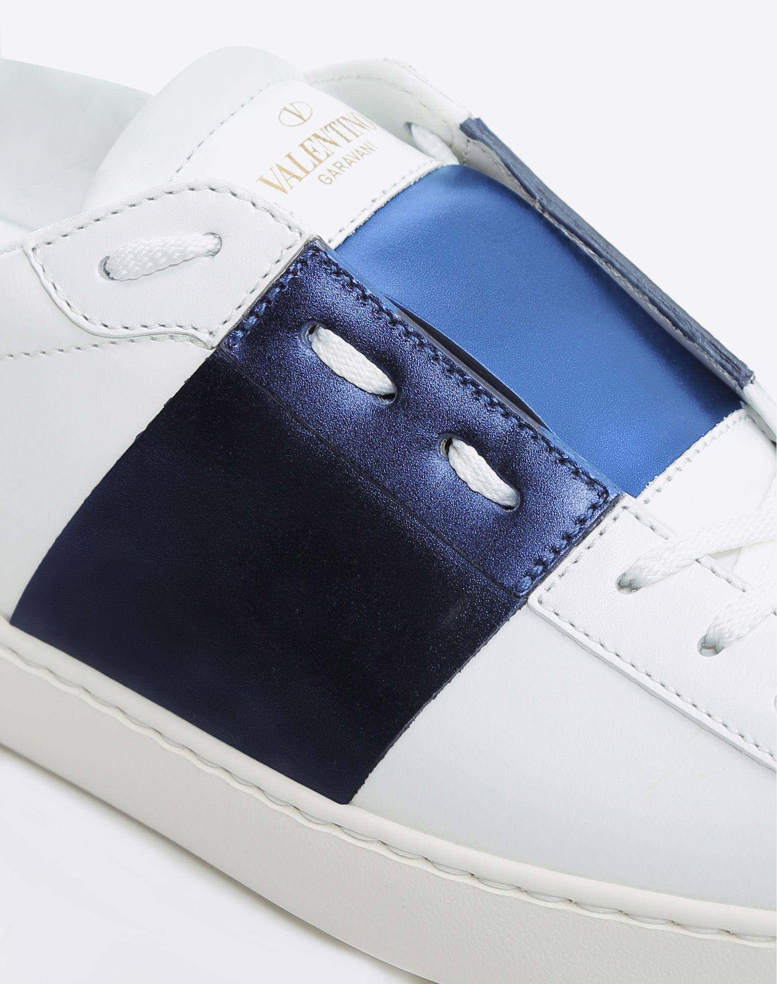 VALENTINO Laminated effect Logo Round toeline Laces Rubber sole  45350601xk
