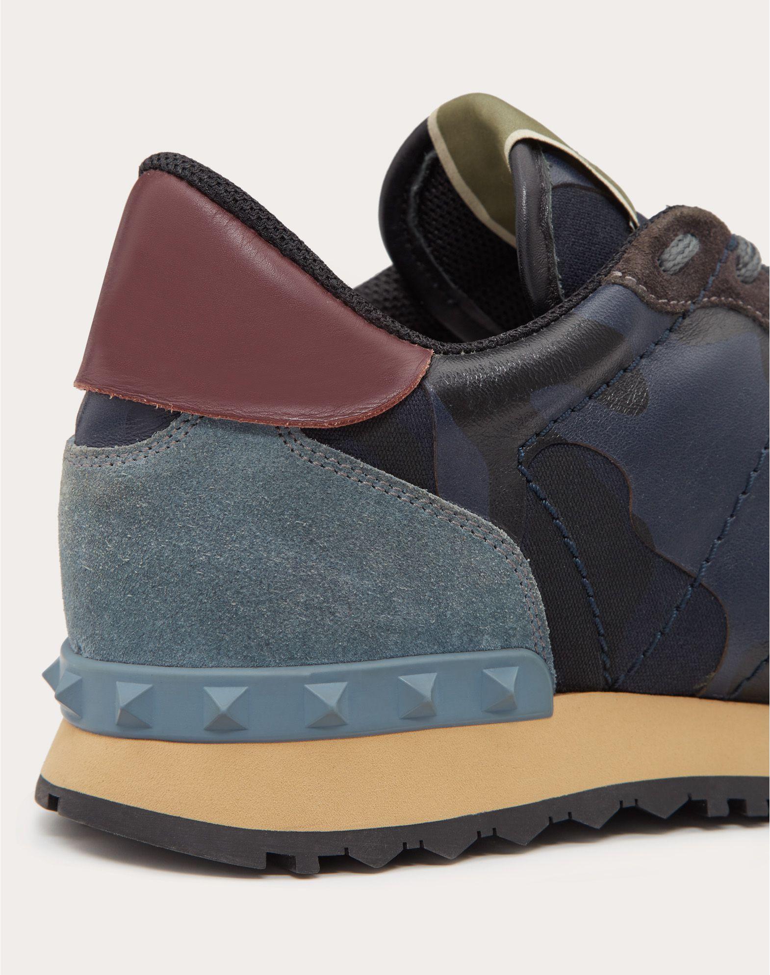 VALENTINO GARAVANI UOMO Camouflage Rockrunner Sneaker LOW-TOP SNEAKERS U a