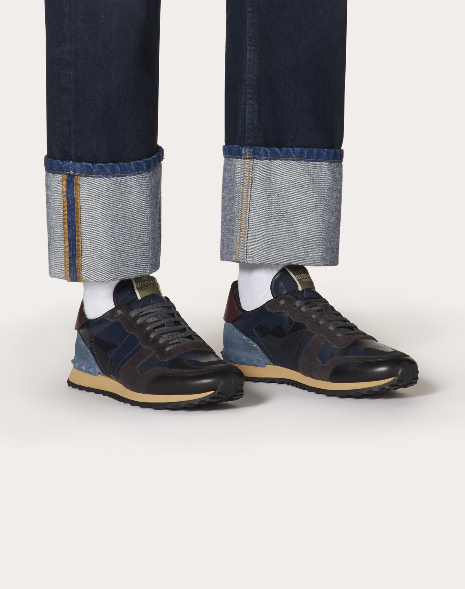 VALENTINO GARAVANI UOMO Camouflage Rockrunner Sneaker LOW-TOP SNEAKERS U b